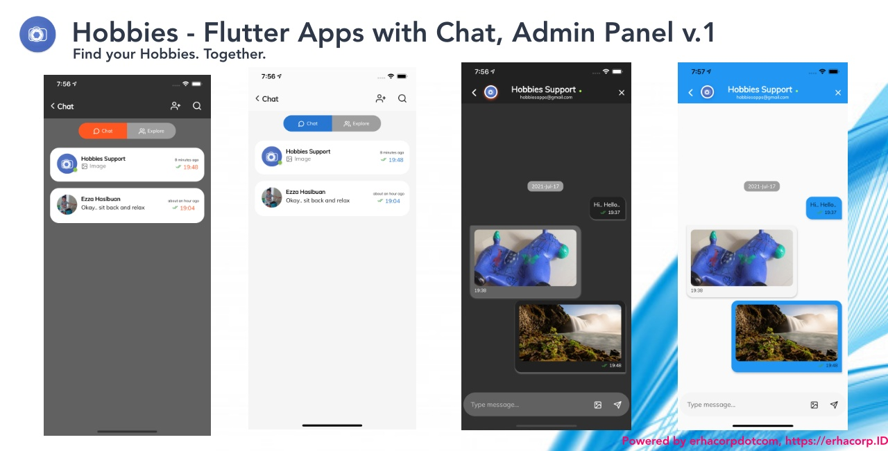 Hobbies - Social Flutter Apps With Chat - Web Admin Panel - 1